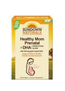 Sundown日落恩賜 SUNVITE®孕婦專用加強型維生素+藻油DHA軟膠囊